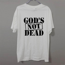 New Summer Fashion God's Not Dead Jesus T Shirt Men Casual Short Sleeve Men's Clothing Tshirt Camisetas