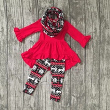 baby winter OUTFITS girls 3 pieces sets with scarf sets girls ice clothing baby girls boutique clothes res top outfits