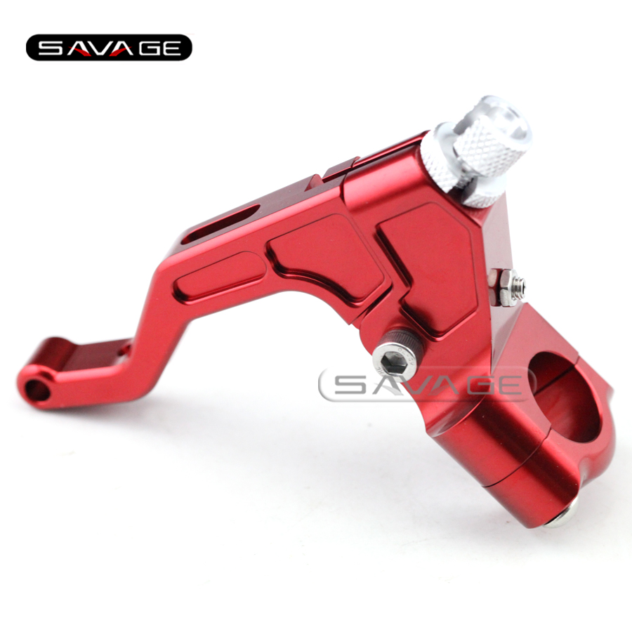For 22mm 7/8 handlebar Motorcycle CNC T6061 Aluminum Performance Stunt Clutch Lever Assembly Red<br><br>Aliexpress