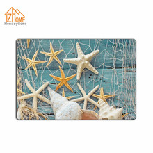 Memory Home Custom Conch Shell Starfish Printed Doormat Home Decor Floor Mat for Living Room Anti-Slip Bathroom Kitchen Carpets