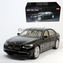 * Black Diecast Model Car for 1:18 BMW 760li F02 Luxury 7 series Vehicle Miniature Toys Alloy Gifts Collection Minicar