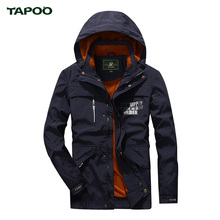 TAPOO 2017 M-4XL Mens Jackets Big Size Brand European Outwear Army Green Jacket Coat Designer Coats Spring Khaki Jackets Casacos