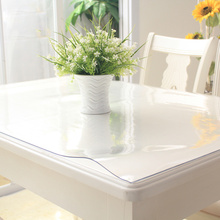 100x100cm Waterproof Clear PVC Tablecloth Protector Table Linens Cover Cloth Home Dining Table Decor