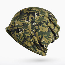 Hat Cap Hooded Red Hat Knitted Digital Camouflage Hat 0257(China)
