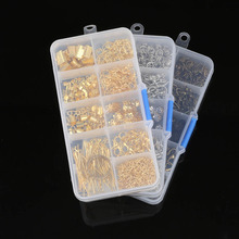 1Box Jewelry Making Materials Crimp End Clasps Lobster Clasps Jump Rings Extender Chains T/9 Word Head Pins Needle Beads Kit(China)