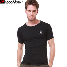 MAGCOMSEN T-shirts Men Summer Cotton Short Sleeve Military t shirt US NAVY Elastic Breathable Tactical Tee Shirts Tops Man MT-11