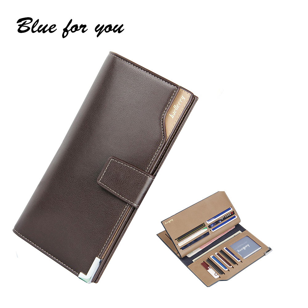 Men Wallets  Leather long Dollar Price Bifold Wallet Men Card Holder Coin Purse Pockets With Zipper Wallet  Men Purse<br><br>Aliexpress