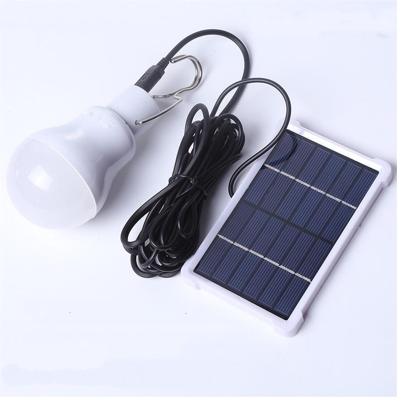 Portable Lanterns Led Solar Garden Bulb For Camping Lighting With Solar Panel and Rechargeable Bulbs Solar Tent Lighting (6)