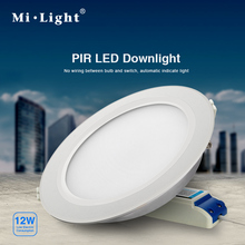 12W PIR LED downlight with PIR sensor together;AC85-265V input;mi-light brand