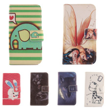 ABCTen Stylish Accessory Cute Cartoon Design Wallet Cover Skin Flip PU Leather Protection Case For Apple ipod Touch 5 5G