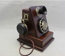 ParamountHA1882tn rope wired fitted antique vintage fashion the elderly household  Rotate dial telephone