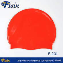 High quality factory supply highly stretchable Swimming Waterproof Silicone Sports Adult 50gs Custom Swim Cap Design your logo(China)