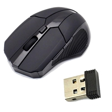 2.4 GHz Wireless Optical Mouse Mice USB 2.0 Receiver for PC Laptop Black Ergonomic Design Mouse Gamer Mouse(China)