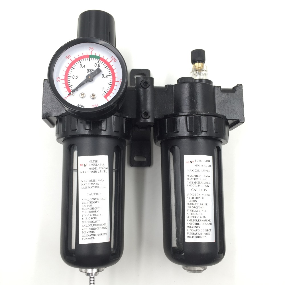 SFC-300 G3/8 Pneumatic Air Filter Regulator Lubricator SL300A BSP 3/8<br>