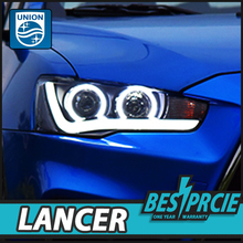 UNION Car Styling for Mitsubishi Lancer 2009-2016 Headlight New Design New Lancer LED DRL Lens Double Beam H7 HID Bi Xenon Fog