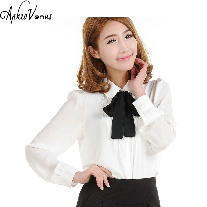 2016 Spring SUMMER Women Chiffon Shirt Blouse Ladies Elegant Sexy Long Sleeve Shirts Female Office Shirt