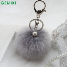 Starry-Styling Fur key chain Fashion 8cm Fur Ball Car Pendant KeyChain women bag Key Ring Delicate Drop Shipping