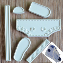 1Set Baby Shoes DIY Cake Fondant Mold High Cut Sneaker Fondant Cake Decorating Baking Tool Mould Cake Tools Accessories(China)