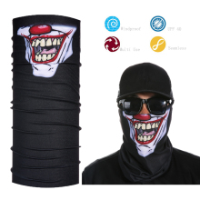Custom Logo Skull Face Shield Multifunctional Clown Tube Bandana