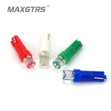 50x T5 Led 1SMD Led Interior Bulb With Wedge Base For Dashboards(Gauge bulbs) Led T5 DC12V White/Green/Blue/Red/Yellow