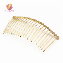 GHRQX 5 pcs 20Teeth Gold  Metal Hair Combs DIY Jewelry Accessories Findings & Components