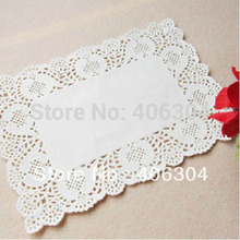 19cm*30cm white lace paper mat doilies for cake pastry Absorb oil paper party wedding tableware decoration placemat(China)