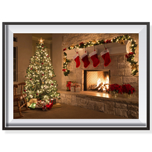 Christmas Tree Stockings Fireplace Oil Painting By Numbers On Canvas Coloring Wall Modular Picture No Frame DIY New Year Decor