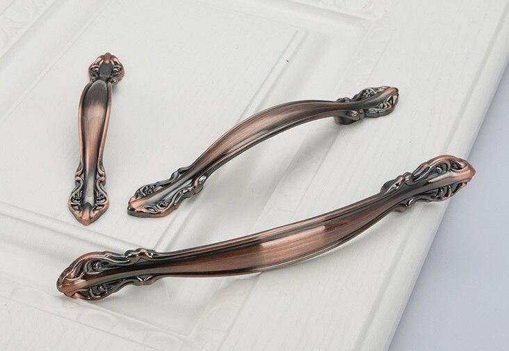 10Pcs/Lot SOLID European Classic  Red Bronze Handle Knob Pull Kitchen  Furniture Wardrobe Cabinet <br><br>Aliexpress