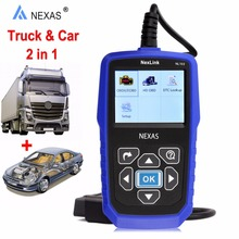 NEXAS Universal Truck Scanner Diesel Engine for VOLVO NexLink NL102 OBD2 Heavy Duty Analyzer Diagnostic Tool Car Trucks 2 in 1(China)
