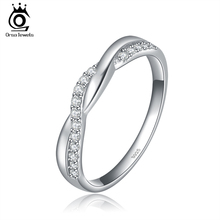 Buy ORSA JEWELS New Arrival Silver Color Infinity Ring Shiny Austrian Zircon Crystal Fashion Jewelry Rings Wholesale OR44 for $2.87 in AliExpress store