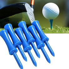 50pcs High Quality Blue Plastic Golf Tee Step Down Graduated Castle Tee Height Control 68mm for Golf Accessories(China)