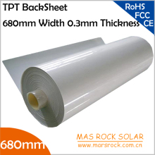 100meter/Lot Wholesale Solar Panel Back Sheet, 680mm Width 0.3mm Thickness, TPT Solar Module Encapsulation Film, 680mm Solar TPT(China)