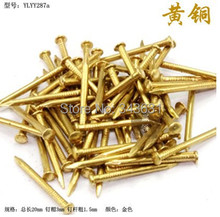 High Quality brass 3*1.5*20   20mm  Common brass Nails