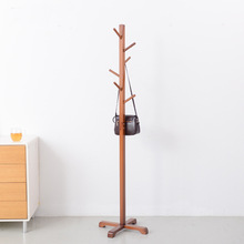 (Cross Stent ) 6 hook  Modern Solid Wood Living Room Coat Rack Display Stands Scarves Hats Bags Clothes Shelf