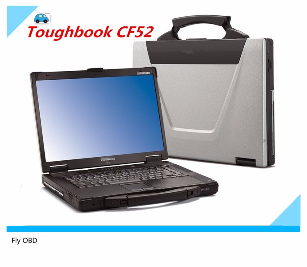 Free shipping For Panasonic CF-52 Military Toughbook Laptop CF52 Diagnosis Laptop can work for bmw icom a2 and mb star c3 c4c5-2_