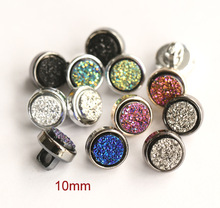 40pcs/lot Size:10mm Newest rhinestone embellishments buttons for crafts Sewing button for shirt(SS-255)