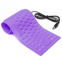 Beautiful Notebook Keyboards Portable USB Mini Flexible Silicone PC Keyboard Foldable Laptop Rolled Fingerboard
