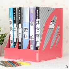 Hot Sale Wood Office Desktop Storage Box Large-capacity Paper Magazine Rack Book File Office Files Desk Office Organizer