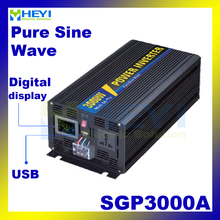 New Smart Series Pure Sine Wave Inverter 3000W with USB input 12VDC 24VDC 48VDC output 110VAC 220VAC solar micro inverter(China)
