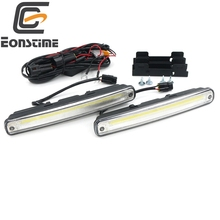 Eonstime 12V/24V 2Pcs COB LED Car Styling DRL Daytime Running Light Source Head Lamp White Fog Lamps 12W 180mm Turn off lights(China)