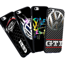 For iPhone 5 S 5S SE 6 6S Plus 7 VW Case  Volkswagen Bus GTI TDI Car Logo Pattern Anti-knock Phone Black Silicone Soft Case
