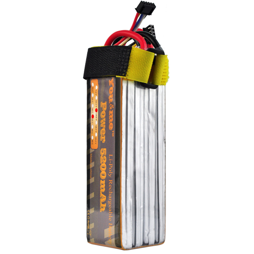 2pcs Youme 4S 5200mah 14.8V 35C Max 70C DJI F550 RC Lipo Battery For Helicopters RC Fixed-wing Multi-axis quadcopter Car
