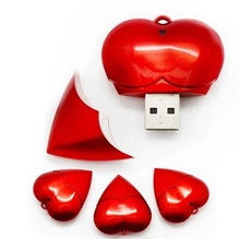 Love gift Heart USB Flash Drive 1gb 2gb 4gb 8gb Pendrive 16g 32G Pen Drive (Factory Wholesale, Custom LOGO) 100pcs/lot