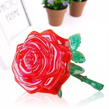 3D Puzzle Crystal Rose Lying Down Model Game Kids Children Gifts Brain Teaser