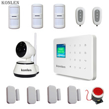 Wifi Ip Camera 720p Ptz P2p Slot micro SD 64 GB Onvif & kerui G18 Alarm Gsm 2 in 1 Wireless Home Security System.