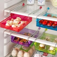 1pcs/set Refrigerator Clapboard Layer Storage Rack Drawer Sorting Box Glove Box Food Candy Tray Drawer makeup organizer