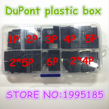 150PCS 2.54mm Plastic Dupont Jumper Wire Kit With Box 1P 2P 3P 4P 5P 6P 2*4P 2*5P Wire Plug Cable Housing Female Pin Connector