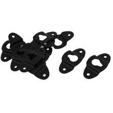10PCS Audio Speaker Wall Mounted Iron Hanger Plate Black 4.8cm Long