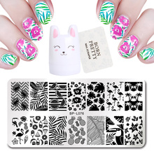 Buy BORN PRETTY Nail Stamping Plates Rectangle Round Square Design Stamping Tool Set DIY Nail Template Manicure Stamp Image Plate for $2.08 in AliExpress store