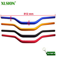 "Buy XLSION 28mm 1 1/8"" Aluminum Alloy Fat Bar Handlebar Hand Bar Pit Dirt Motor Bike Motorcycle ATV Quad KTM Apollo BSE Kayo for $24.39 in AliExpress store"